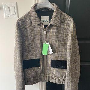Kenzo Bomber Jacket Wool Brown Men